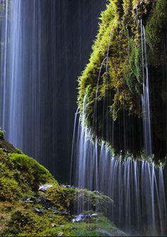 Schleierfall waterfall ,Wilder Kaiser, Austria