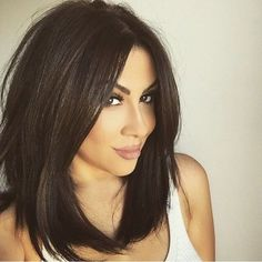 Medium Layered Bob Hairstyles Lovely Re Mendation Your Hair with Extra Dreamy Long Bob Brunette Od – Simple Hairstyles for Men Longbob Hair, Straight Black Hair, Black Long Bob, Medium Length Hair With Layers Straight, Long Length Bob, Short Black Hair, Brown Mid Length Hair, Black Hair Cuts, Long Bob Haircuts