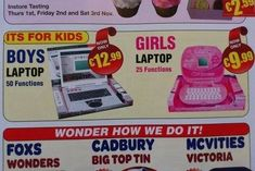 Hi, girls: Your laptop has half the functions and costs less. | 16 Ways The Toy Industry Is Stuck In The Stone Age