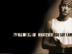 Eminem...some people just forgot how to play...or can't face the cold hard truth..whatever it is... I love your music