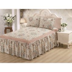 Glory Home Design Hailey Panel Bed Skirt Size: Queen