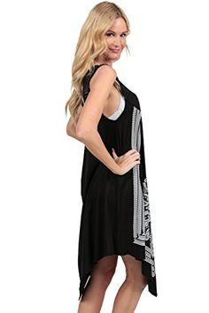 a4ffe3ce9ba Ingear Crochet Casual Dress Embroidery Summer Beach Handkerchief Dress  (Large XLarge