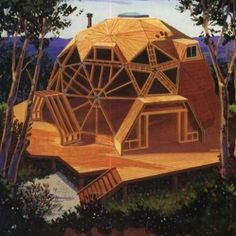 5 dome house display models that are resistant to natural disasters - architecturian Dome Structure, Geodesic Dome Homes, Dome House, Earthship, House Layouts, Cool Rooms, Tiny House, House Inside, Building A House