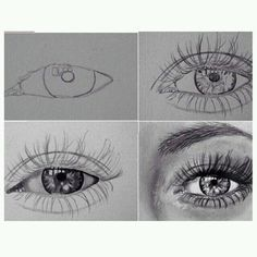 Delineate Your Lips Windows - How to draw lips correctly? The first thing to keep in mind is the shape of your lips: if they are thin or thick and if you have the M (or heart) pronounced or barely suggested. Drawing Sketches, Pencil Drawings, Art Drawings, Sketching, Eye Sketch, Inspiration Art, Art Inspo, Realistic Eye Drawing, Drawing Eyes