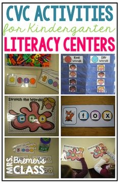 Cvc literacy centers, word work activities, and sight word centers for kindergarten abc centers Abc Centers, Kindergarten Centers, Activity Centers, Literacy Centers, Activity Ideas, Reading Centers, Literacy Stations, Reading Groups, Kindergarten Reading