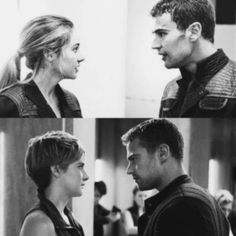 Fourtris #Divergent #Insurgent Divergent Hunger Games, Divergent Fandom, Divergent Trilogy, Tris Et Tobias, Divergent Theo James, Fault In The Stars, Tris And Four, Saga, Divergent Insurgent Allegiant