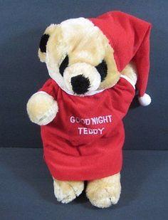 "13"" GOOD NIGHT BEAR Vintage 1985 LTD Commodities Plush Toy B168"