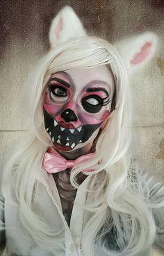 FNAF Mangle Cosplay makeup I did for Halloween