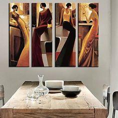 Натяжные Картина на холсте Люди женщина в баре Набор из 4 – RUB p. 3 123,60
