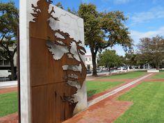 stone monument corten steel - Google Search