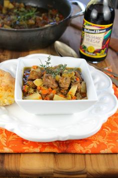 The best and most flavorful beef stew that I've ever made!  Balsamic Beef Stew  from Miss in the Kitchen