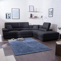 Canap� d'angle en cuir 4 places avec t�ti�res relax r�glables LYS