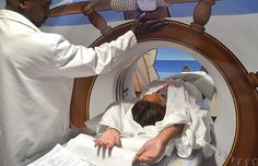 A new pirate-themed CT scanner was installed at New York-Presbyterian Morgan Stanley Children's Hospital to distract patients from the scary test. Unusual News, Bizarre News, Brain Science, Modern Metropolis, Kids Health, Children Health, Pirate Theme, Weird Pictures, Childrens Hospital