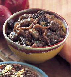 Red Onion Marmalade with Chestnuts / Mark Thomas Pitted Prunes, Chestnut Recipes, Dried Plums, Sauteed Greens, Roasted Chestnuts, Thin Crust Pizza, Specialty Foods, Marmalade, Canning Recipes