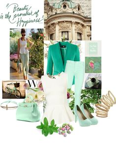 """""""Mint"""" by laonela ❤ liked on Polyvore"""