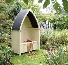 Rowlinson Winchester Wooden Seated Garden Arbour.