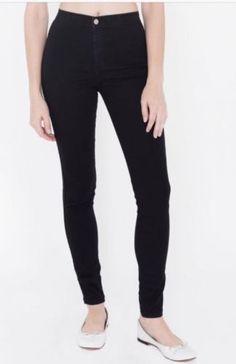 855b01dabeee American Apparel Easy Jean Size Xxs Black Skinny Straight Leg Jeans Slim  Cotton poly Blend Regular
