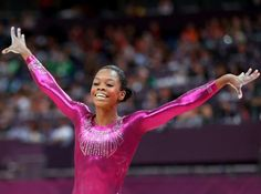 "NOT SQUIRRELY AT ALL  Gabby Douglas may be nicknamed the ""Flying Squirrel,"" but she was nothing but the picture of grace and strength in winning gymnastics all-around gold."