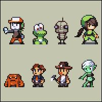 Indie Game Icons pixel characters