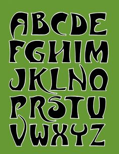 Art deco styl home made alphabet, based on the lettering of the Paris metro signs..