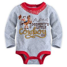 """Onesie Toy Story Woody """"Mommy's Little Cowboy"""" SO Precious body suit for baby boys"""