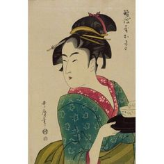 Okita of Naniwa-ya c1793 Canvas Art - Kitagawa Utamaro (24 x 36)