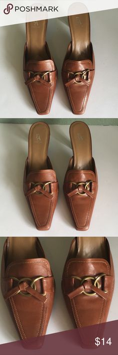 "EA by Etienne Aigner Mules EA by Etienne Aigner Mules ~ Size 6 M ~ Heel is approximately 2 1/2"" ~ Leather Upper ~ Made in Brazil Etienne Aigner Shoes Mules & Clogs"