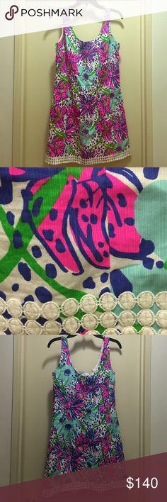 Lilly Pulitzer Eaton shift In the Garden size 6 Lilly Pulitzer Eaton Shift size 6 worn a handful of times! Great condition. Lilly Pulitzer Dresses Mini
