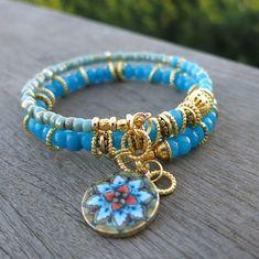 Memory Wire Jewelry, Memory Wire Bracelets, Macrame Bracelets, Strand Bracelet, Handcrafted Jewelry, Unique Jewelry, Jewelry Ideas, Diy Jewelry, Jewlery