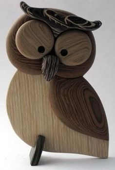 Simple original modern wood animal desktop ornam - Wood How to Crafts Wooden Projects, Wooden Crafts, Owl Crafts, Diy And Crafts, Wood Owls, Wood Animal, Wood Creations, Wooden Art, Wood Sculpture