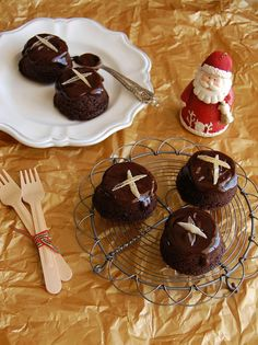 Bolinhos de chocolate e gingerbread