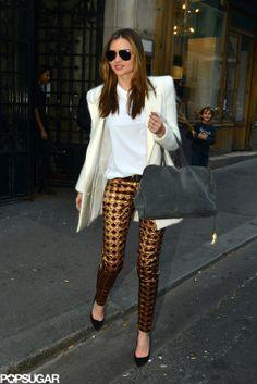 Miranda Kerr Never Has an Off Day. The uber chic model rocks Balmain in Paris. LOVE.