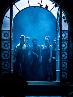 Jack Horner, Laura Prior, Simon Carroll-Jones, Susan Hingley and Jay Webb as the Shadows in Wendy & Peter Pan