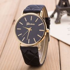 Classic Diamond Plaid Strap Watch