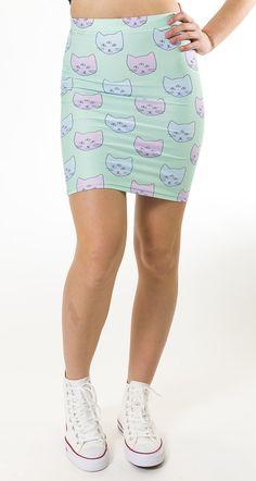 Mint & Chopsticks Seeing Things Skirt - Cat Skirt - Festival fashion - rave skirt -  https://www.etsy.com/ca/listing/507492417/seeing-things-skirt-cat-skirt-lavender