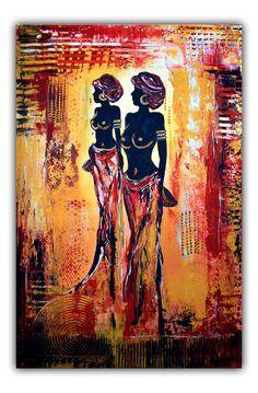 Afrika Frauen - Figuren Gemälde und Künstler Bild www.burgstallers-art.de/online-shop
