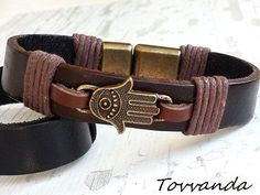 EXPRESS SHIPPING Hamza's Hand Leather Bracelet