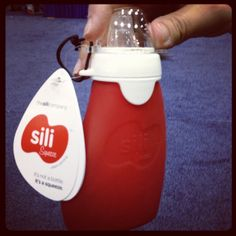 The Sili is a reusable alternative to the baby squeeze packet —made from silicone, it can be used with homemade baby food.