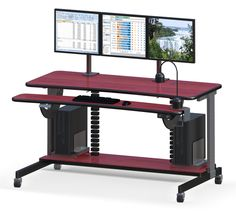 Height Adjustable Computer Table With Tasklight
