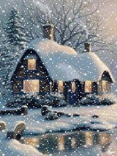Animated Christmas Tree, Xmas Gif, Christmas Scenery, Christmas Past, Outdoor Christmas, Winter Christmas, Winter Images, Winter Pictures, Christmas Pictures