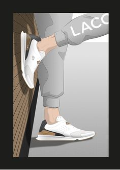 Lacoste on Behance Lacoste Shoes, Training Sneakers, Designer Shoes, Behance, Slippers