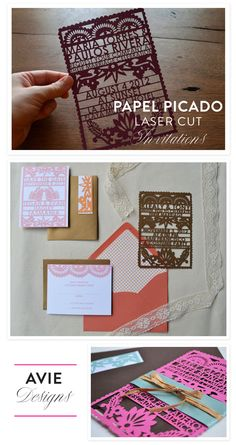 Laser Cut Papel Picado Invitations by Avie Designs + A Giveaway!