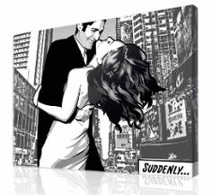 Gift Idea: Personalized Gifts for Couples - Exclusive Black and White Comic Portraits hand illustrated... finds-you-want-to-see-featured-on-daily-grommet