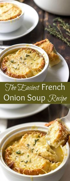 This Easy French Onion Soup is a BOMB. - soupnbroth - {Soups and Stews} -Soup: This Easy French Onion Soup is a BOMB. - soupnbroth - {Soups and Stews} - Onion Soup Recipes, Healthy Soup Recipes, French Onion Soup Vegetarian, Best Onion Soup Recipe, Vegetarian Soup, Drink Recipes, French Vegetarian Recipes, Recipe With Onions, Onions