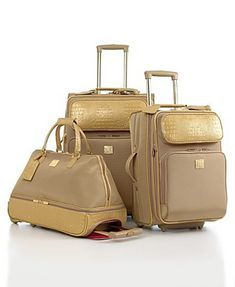 Blue DVF Furstenberg 2PC Luggage Set BONUS Cream Liz Claiborne ...