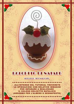dolcetto di Natale segnaposto di Pannolenci