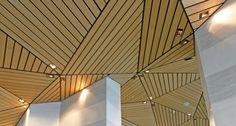 Wood ceiling panels for irregular ceiling designs