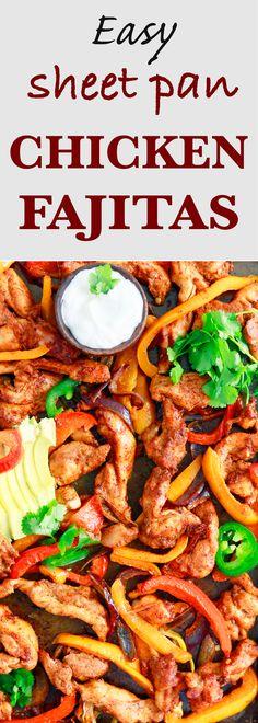 sheet pan dinners | sheet pan dinners chicken| healthy sheet pan dinners | easy weeknight dinner recipes | easy dinner ideas | one pan recipes | chicken fajitas recipe | baked chicken fajitas | easy chicken fajitas | healthy chicken fajitas |