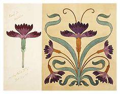 New art nouveau tattoo flower decoration ideas Azulejos Art Nouveau, Motifs Art Nouveau, Design Art Nouveau, Motif Art Deco, Art Nouveau Pattern, Art Nouveau Tiles, Art Design, Art Nouveau Tattoo, Tatuagem Art Nouveau