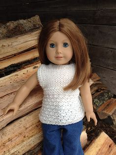 Ravelry: tobykyrk's Something Different Sweater.  Made from the Sleeveless Doll Sweater/Vest by Nanette Genereux